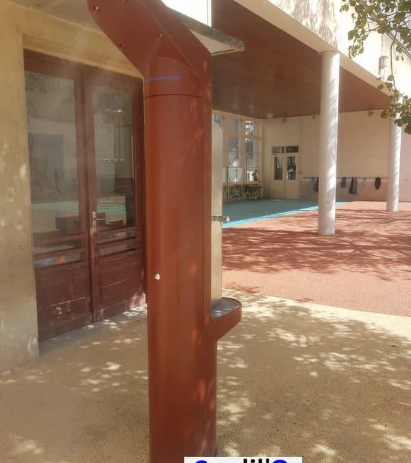 Mise en place d'une fontaine Coolil'O® dans une école du 4° arrondissement de Paris.